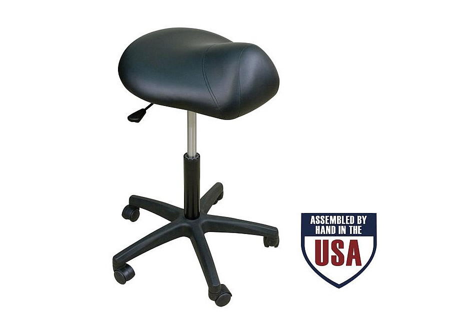 Oakworks Premium Saddle Seat Stool Promotes Good Posture